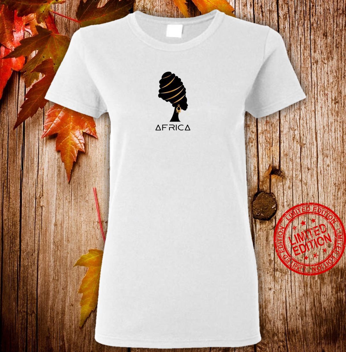 African Black Melanin Artistic Africa Pride Heritage Shirt ladies tee