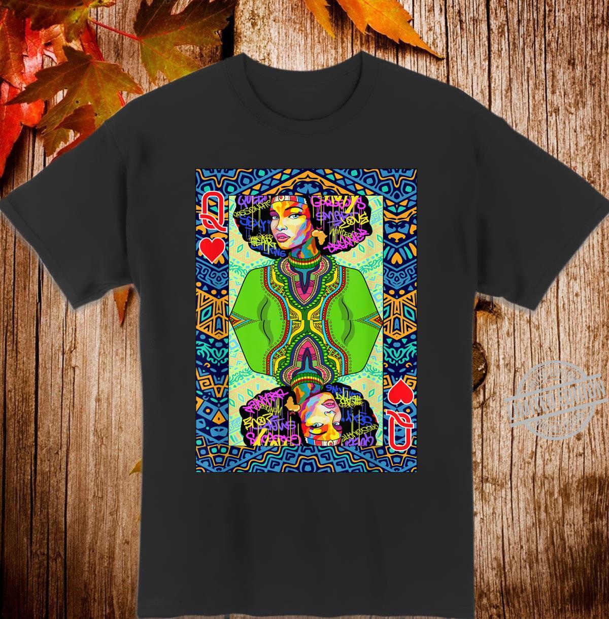 Afro Card Queen Girl Shirt