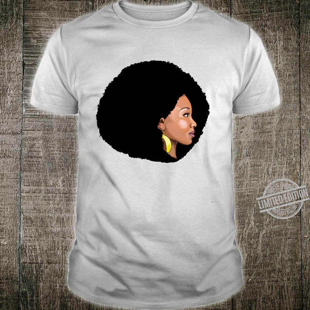 Afro Queen novelty Black with Afro Shirt