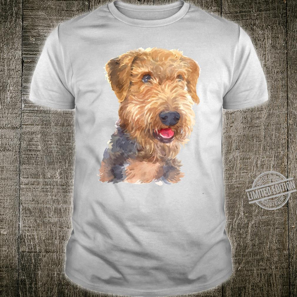 Airedale Terrier Dog Shirt Watercolor Art Airedale Terrier Shirt