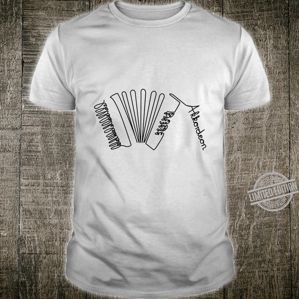 Akkordeon OneLine Musiker Design Handharmonika Shirt