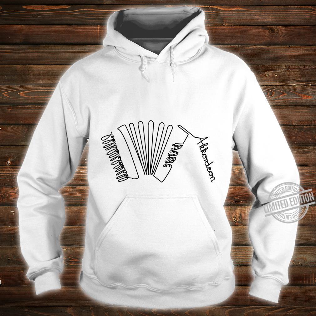 Akkordeon OneLine Musiker Design Handharmonika Shirt hoodie