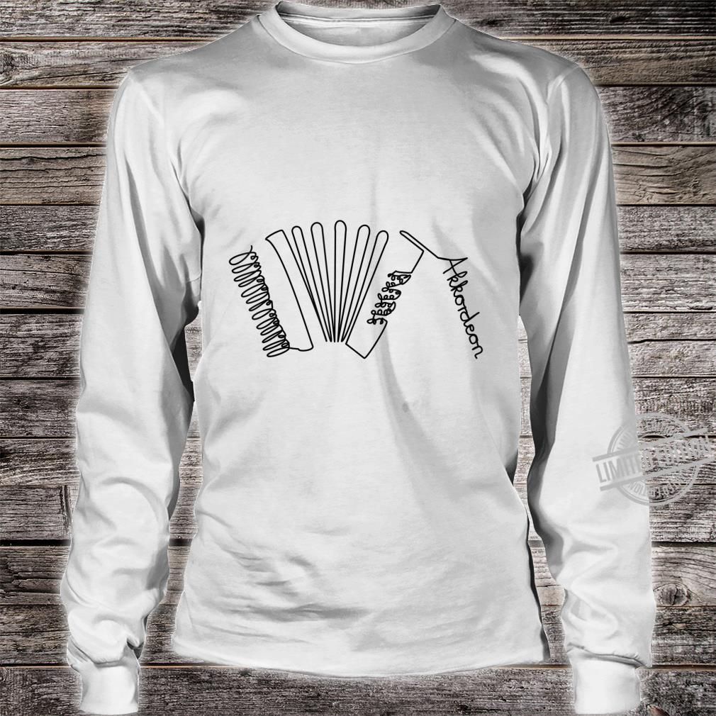Akkordeon OneLine Musiker Design Handharmonika Shirt long sleeved
