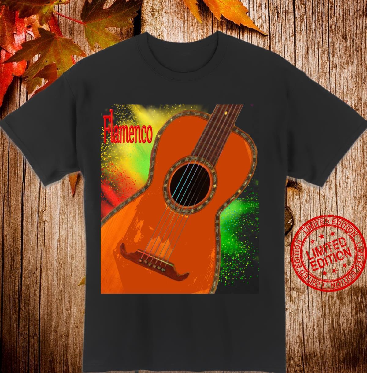 Akustische Flamenco Gitarre Langarmshirt Shirt