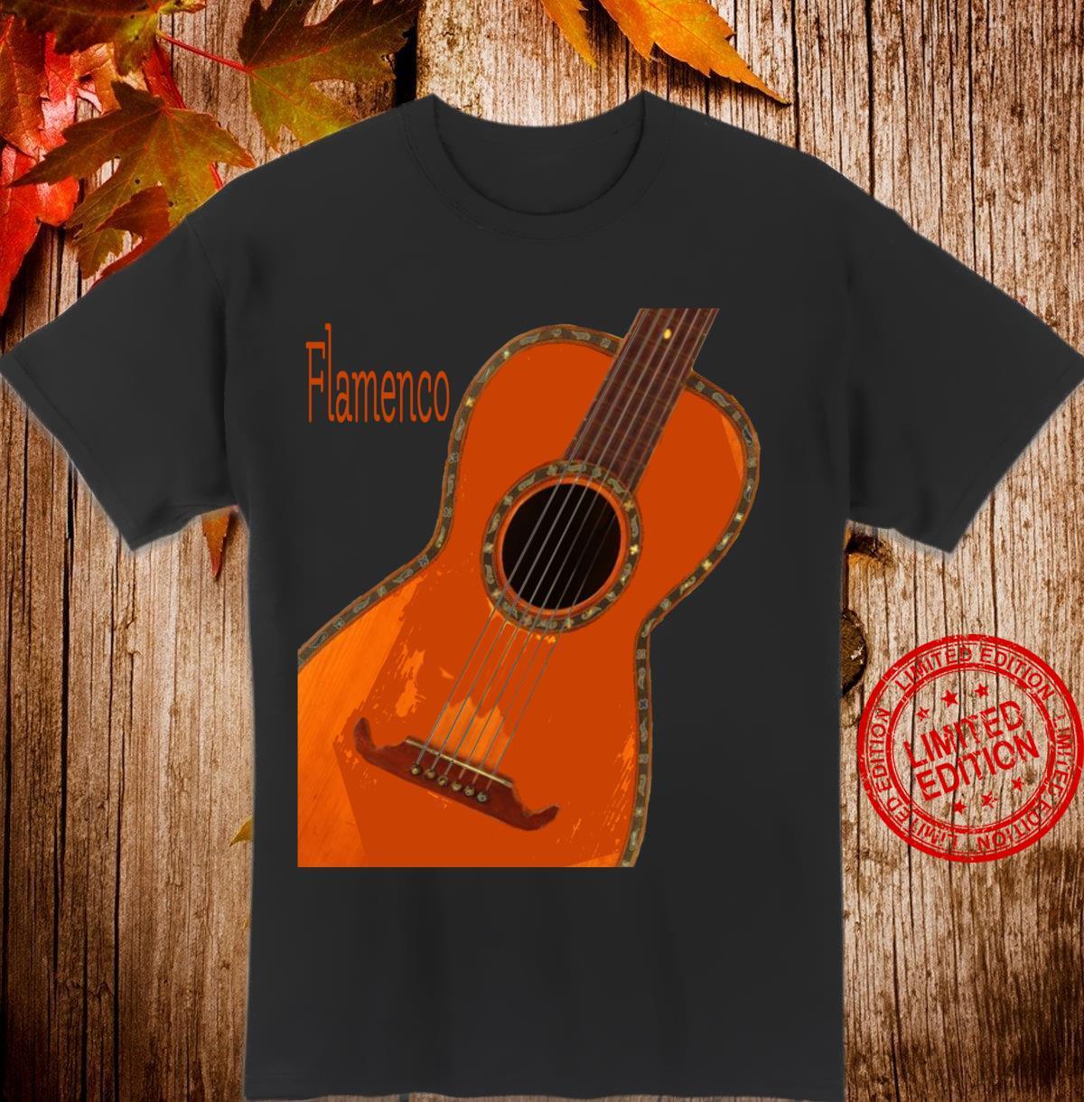 Akustische Gitarre Flamenco Langarmshirt Shirt