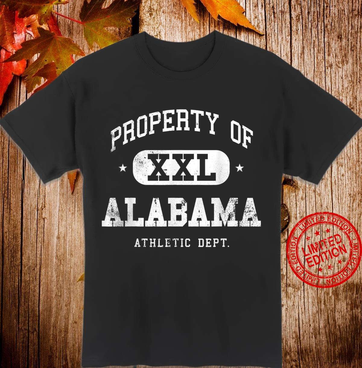 Alabama Vintage Sport Property Athletic Shirt