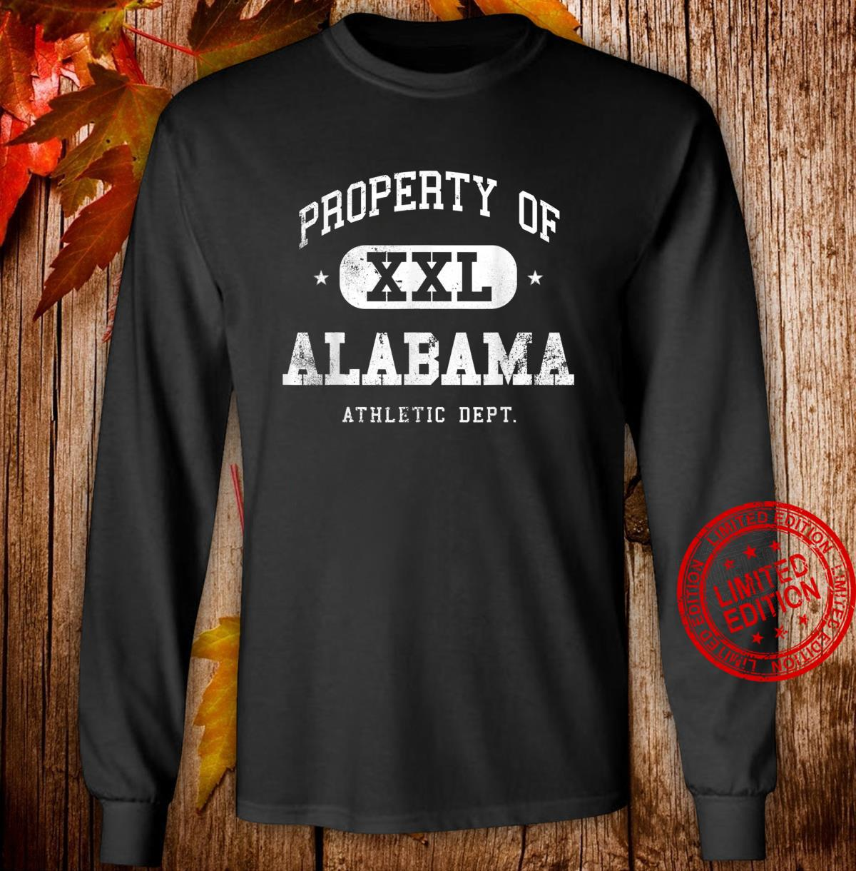 Alabama Vintage Sport Property Athletic Shirt long sleeved