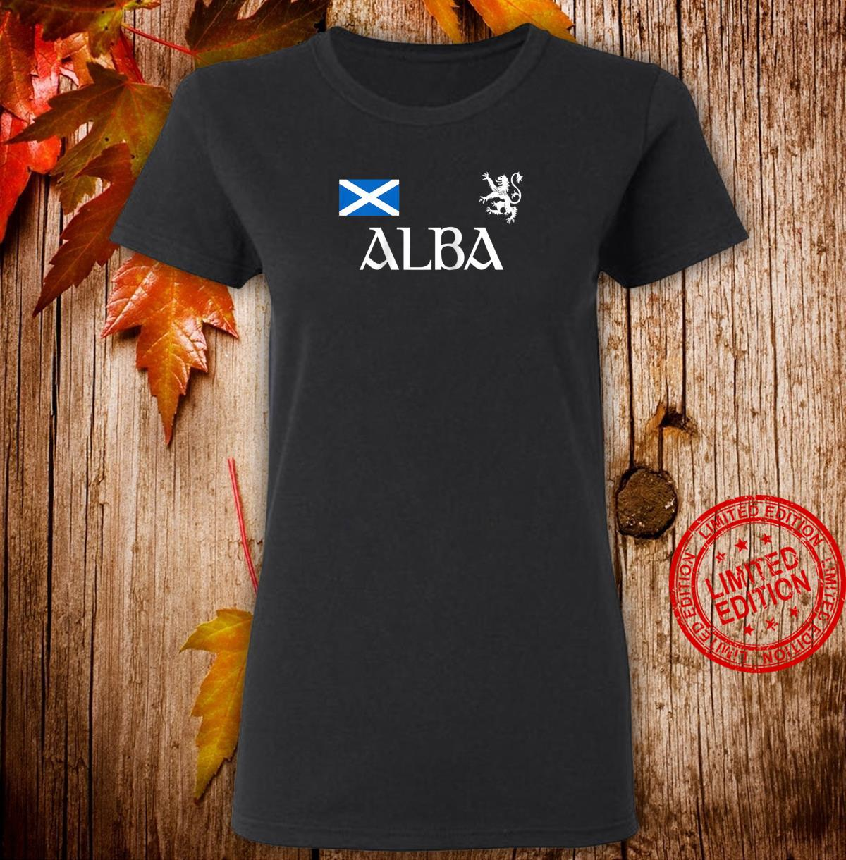 Alba Scotland Jersey Shirt Proud Scottish Lion Rampant Shirt ladies tee
