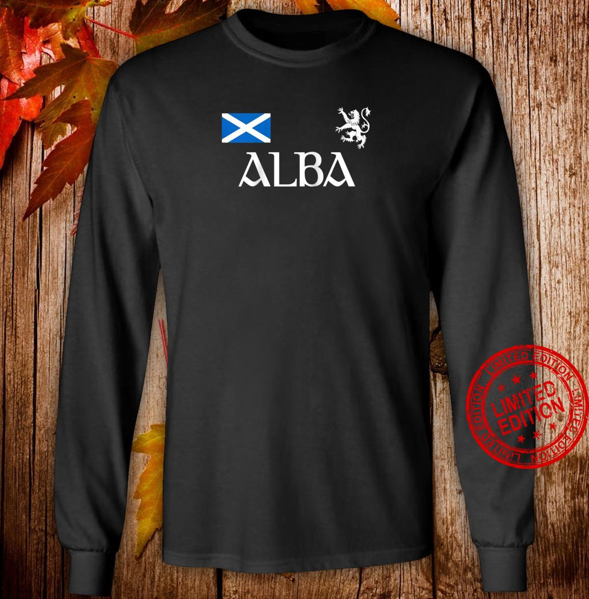 Alba Scotland Jersey Shirt Proud Scottish Lion Rampant Shirt long sleeved