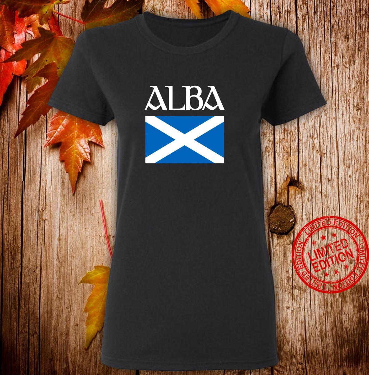 Alba Scottish Flag Shirt Proud Banner O Scotland Langarmshirt Shirt ladies tee