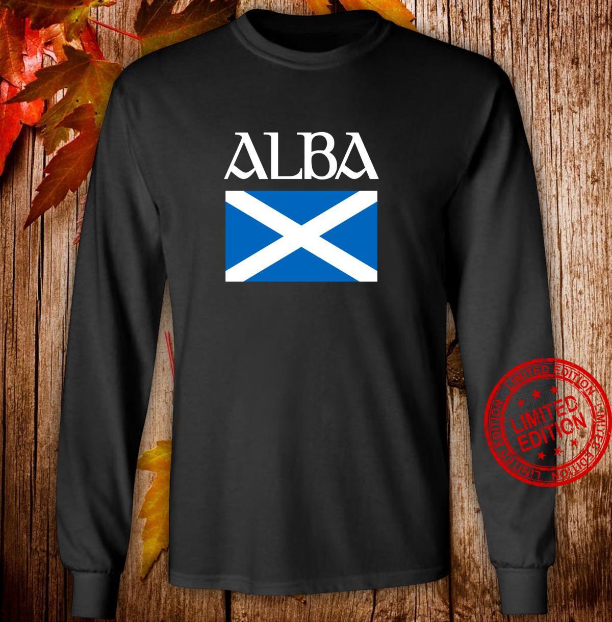 Alba Scottish Flag Shirt Proud Banner O Scotland Langarmshirt Shirt long sleeved
