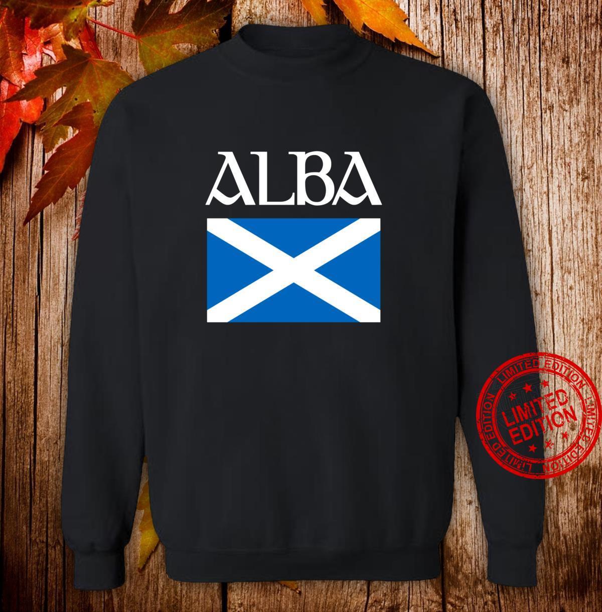Alba Scottish Flag Shirt Proud Banner O Scotland Langarmshirt Shirt sweater