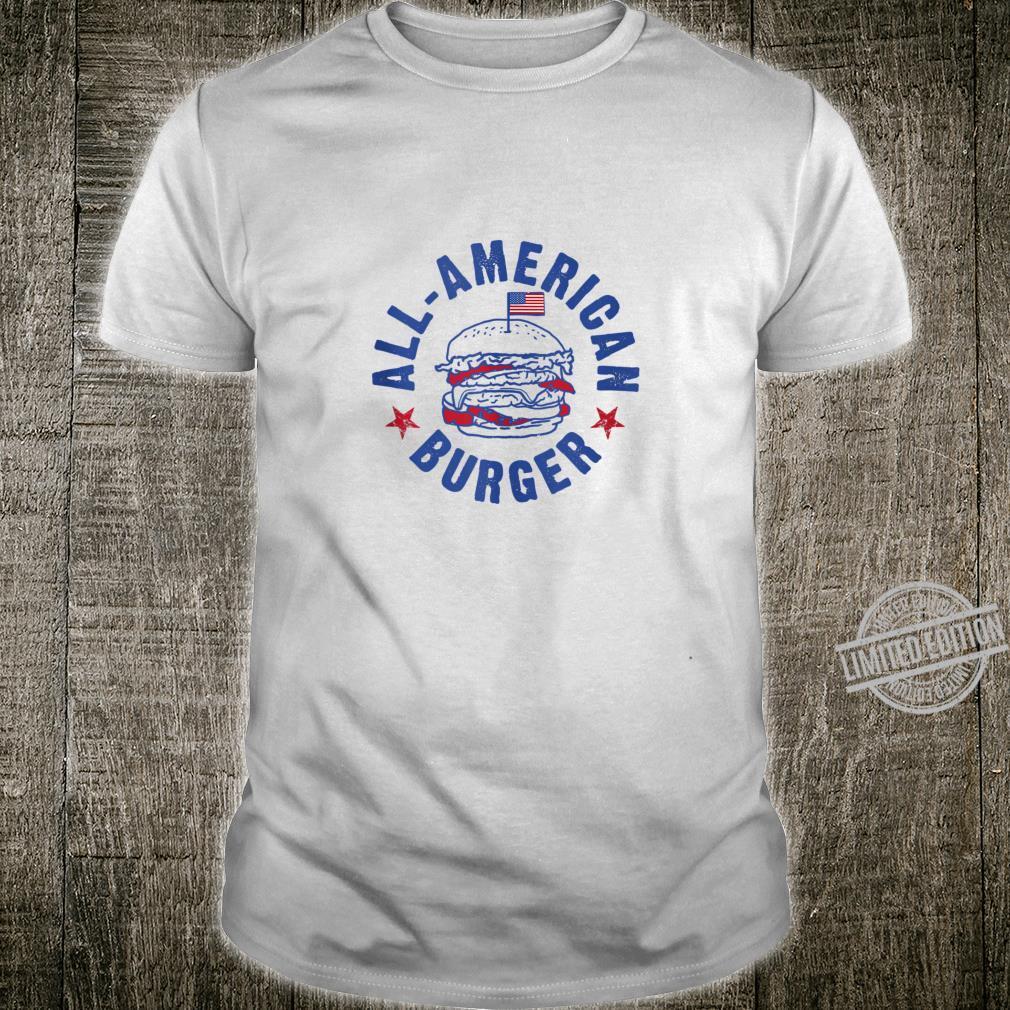 AllAmerican Burger Hamburger Eating Shirt