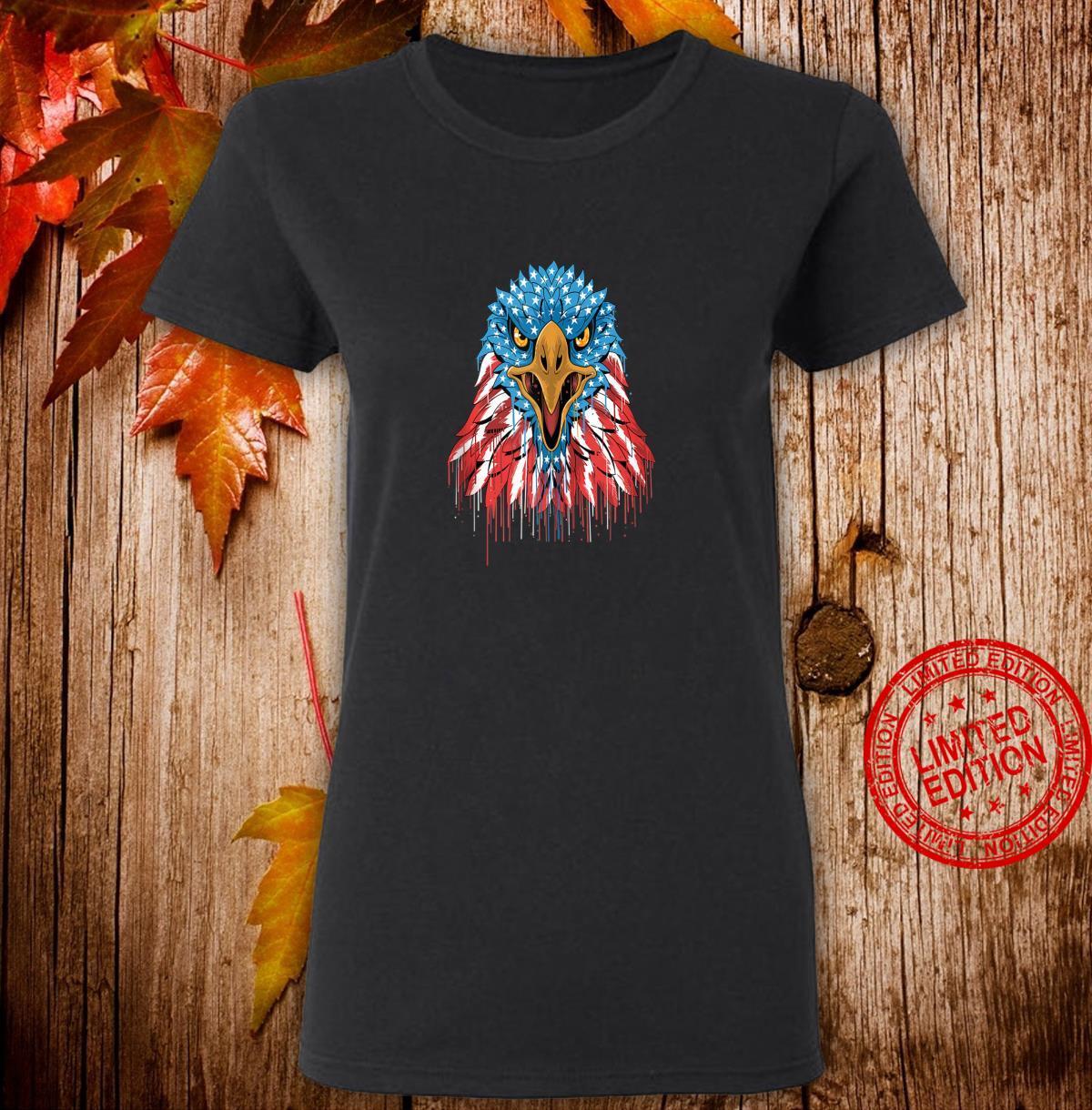 America American Eagle Bald Eagle Patriot Shirt ladies tee