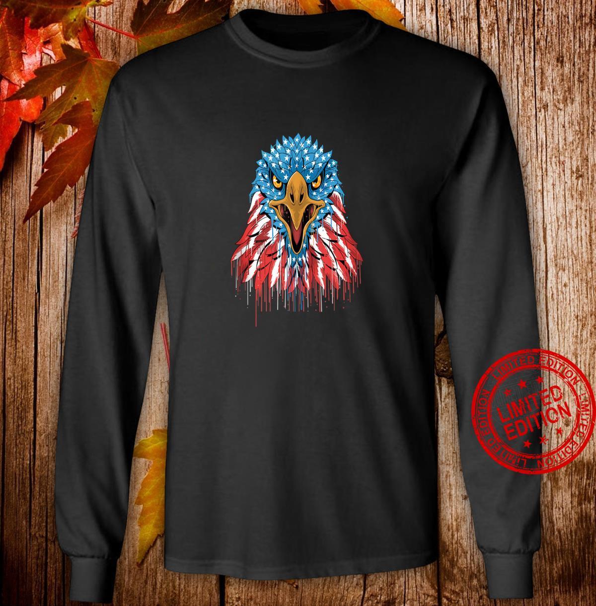 America American Eagle Bald Eagle Patriot Shirt long sleeved