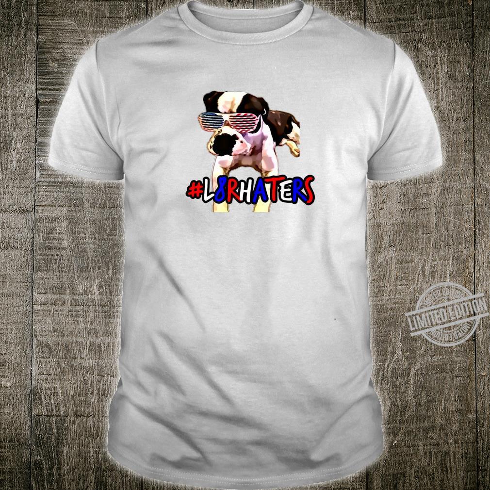 American Bulldog USA Flag Glasses Shirt