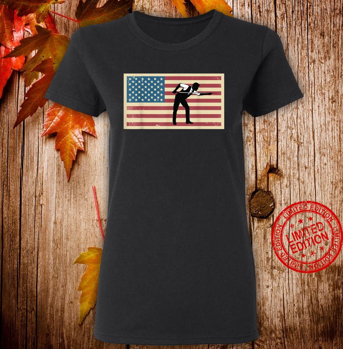 American Flag Billards Pride Billard Pool Player Shirt ladies tee