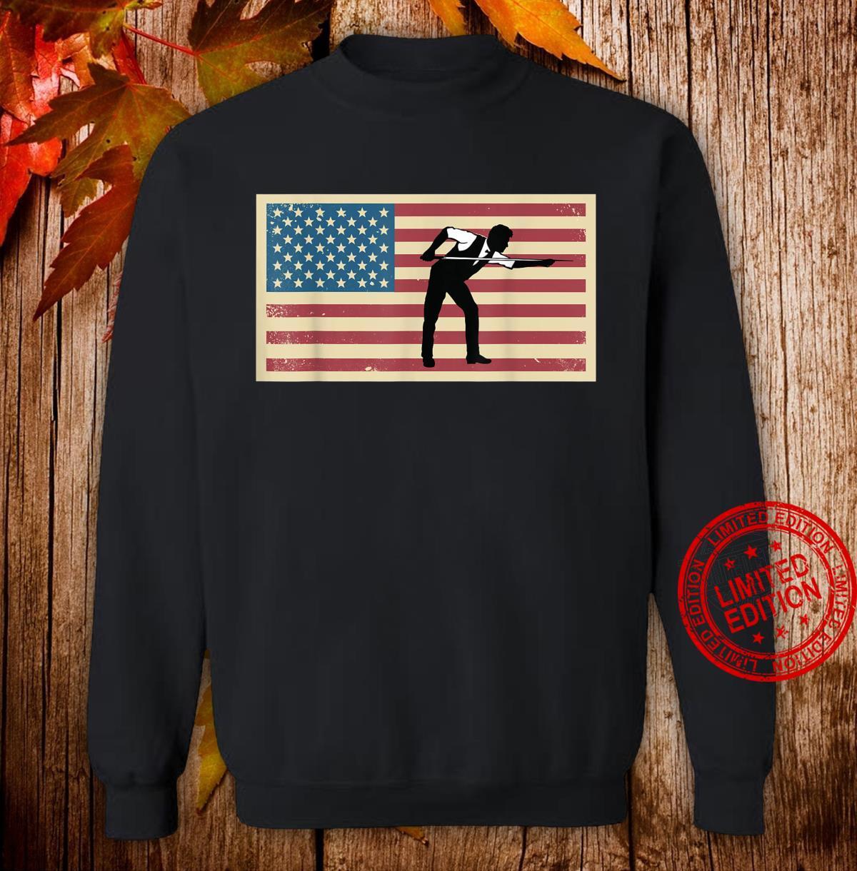 American Flag Billards Pride Billard Pool Player Shirt sweater