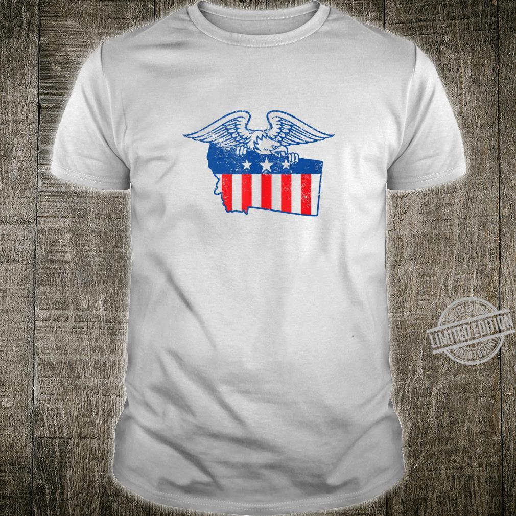 American Flag Vintage State of Montana with Eagle Shirt