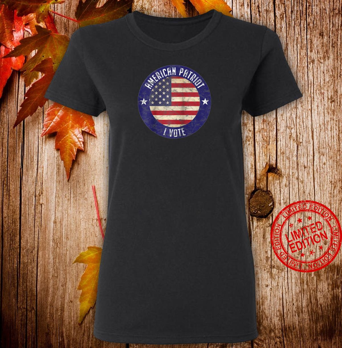 American Patriot I Vote USA Flag Election Vote Shirt ladies tee