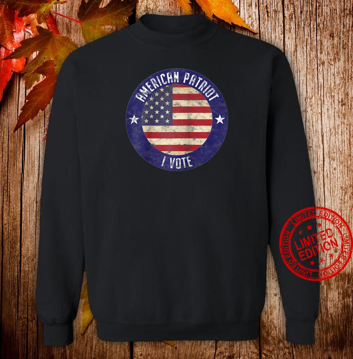 American Patriot I Vote USA Flag Election Vote Shirt sweater