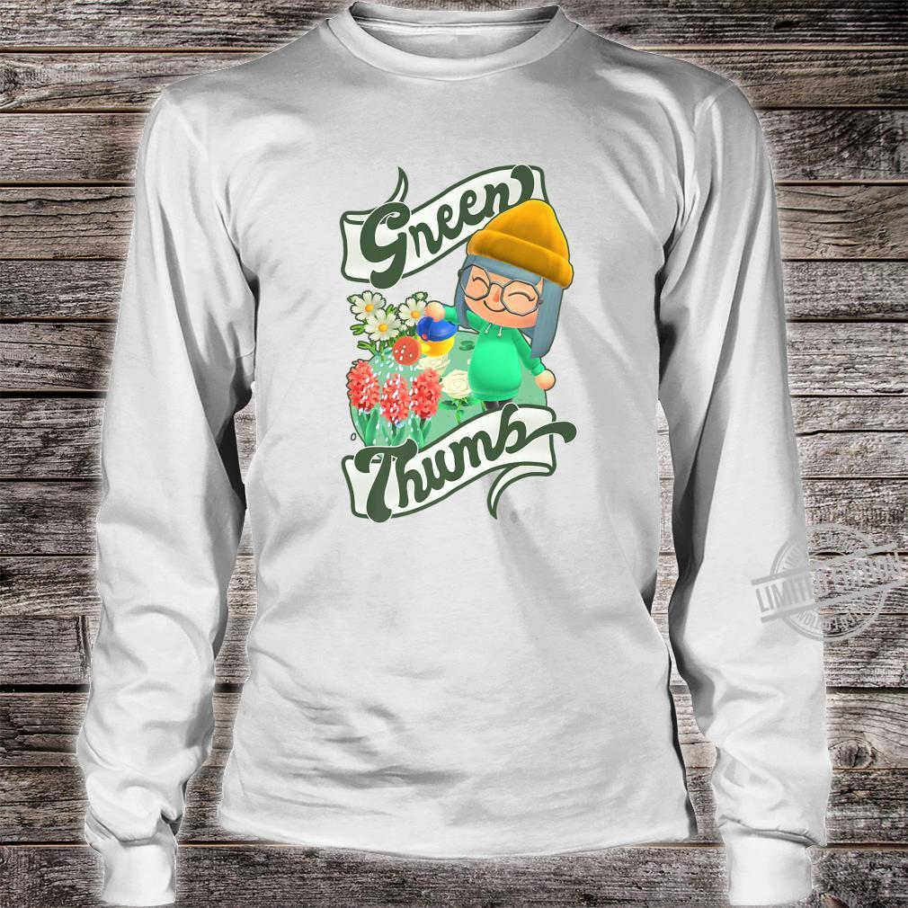 Animal Crossing New Horizons Villager Green Thumb Shirt long sleeved
