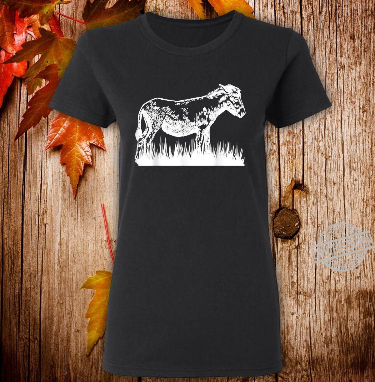 Animal Donkey Farmer Donkey Shirt ladies tee