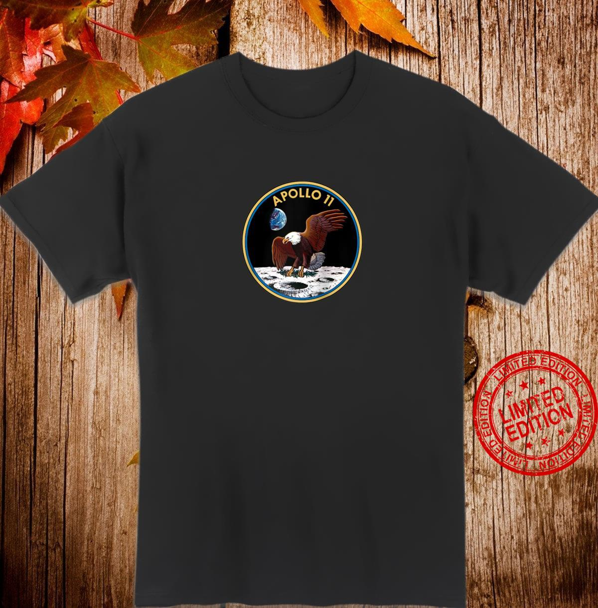 Apollo 11 Mission Patch Insignia Space Exploration Shirt