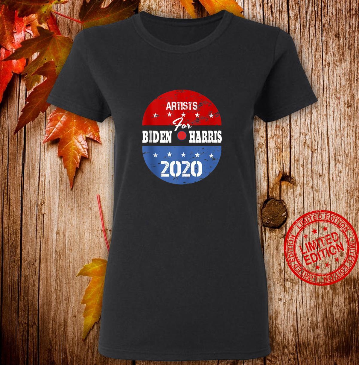 Artists For Biden Harris 2020 Election Volunteer Shirt ladies tee