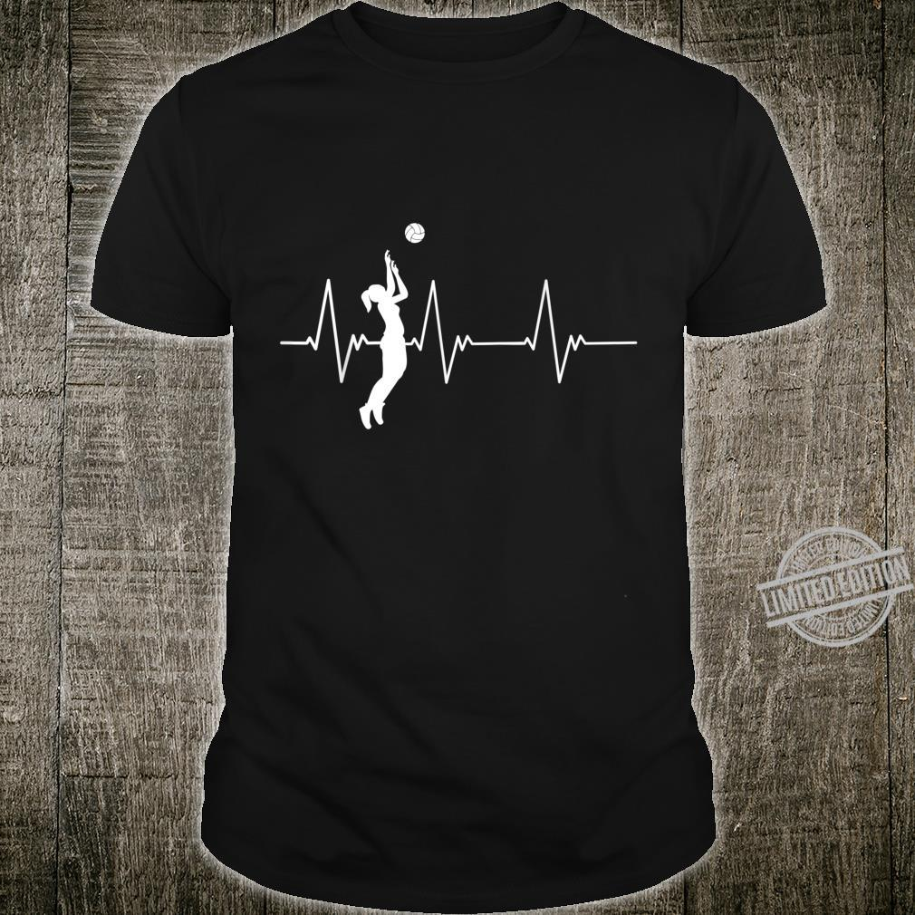 Athlete Volleyball Player Heartbeat Volleyball Shirt