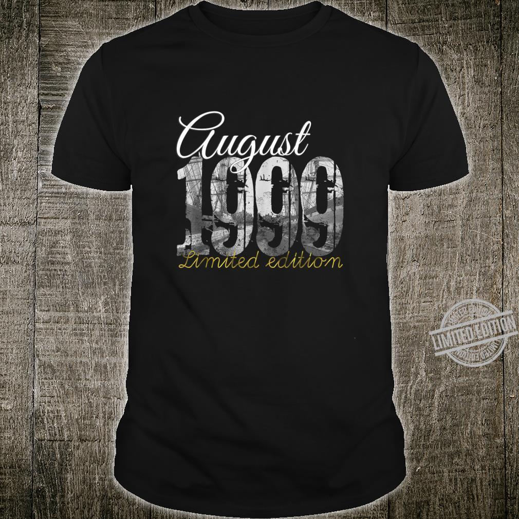 August 1999 21 Year Old Shirt 1999 21st Birthday Shirt