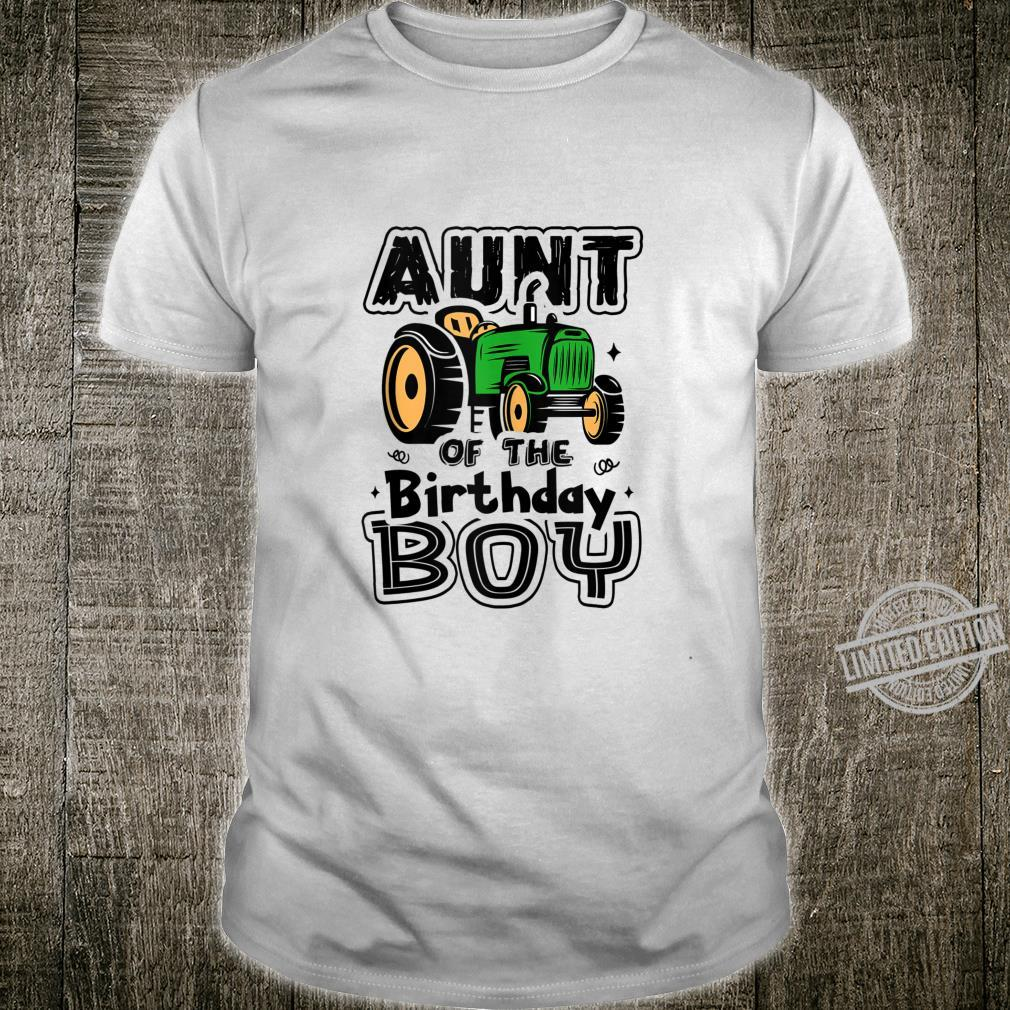Aunt Of The Birthday Boy Farmer Tractor Matching Party Shirt