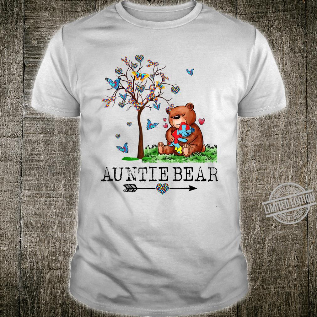 Auntie Bear Autism Awareness Love Support Autism Mother Shirt