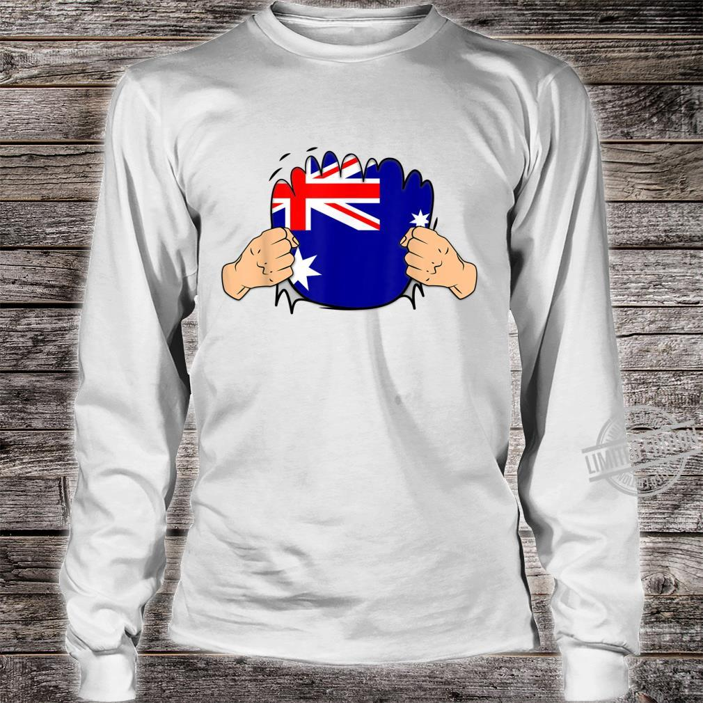 Australia Roots Heritage Flag Shirt long sleeved