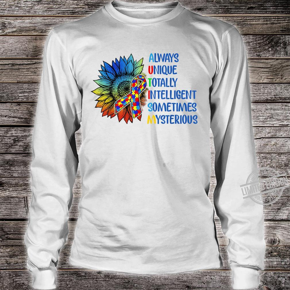 Autism Always Unique Totally Intelligent Autism Awareness Shirt long sleeved