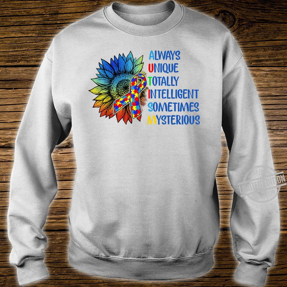 Autism Always Unique Totally Intelligent Autism Awareness Shirt sweater