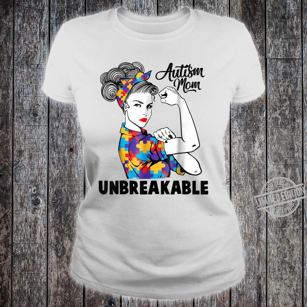 Autism Mom Unbreakables Autism Awareness Shirt ladies tee