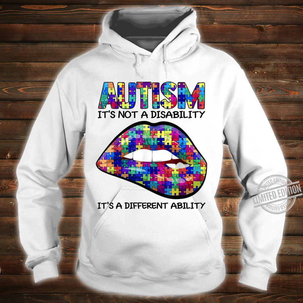 Autism Puzzle Print Lips Autism Awareness Shirt hoodie