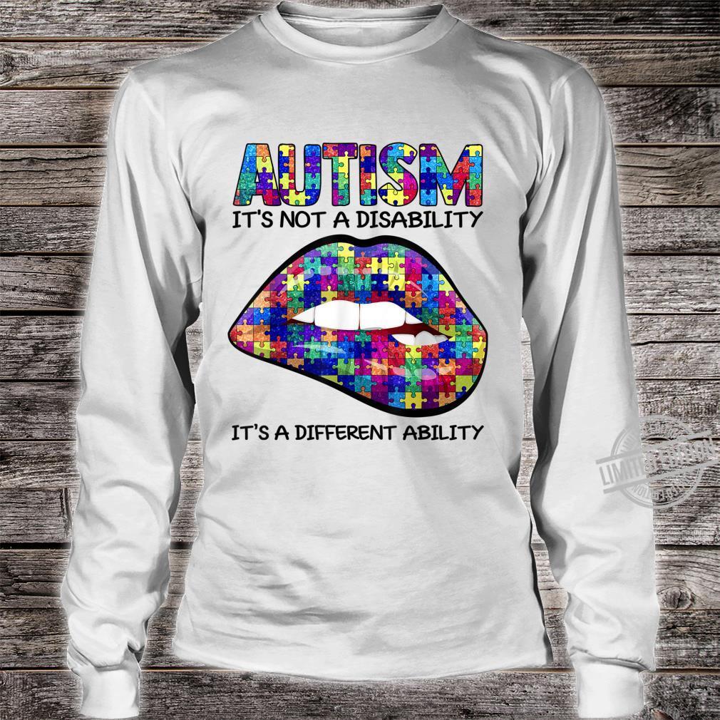 Autism Puzzle Print Lips Autism Awareness Shirt long sleeved