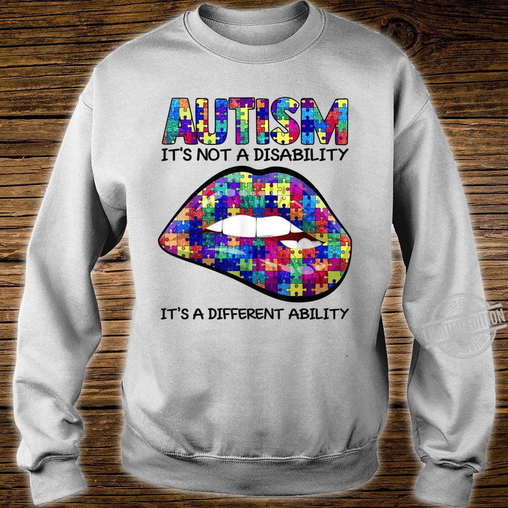 Autism Puzzle Print Lips Autism Awareness Shirt sweater