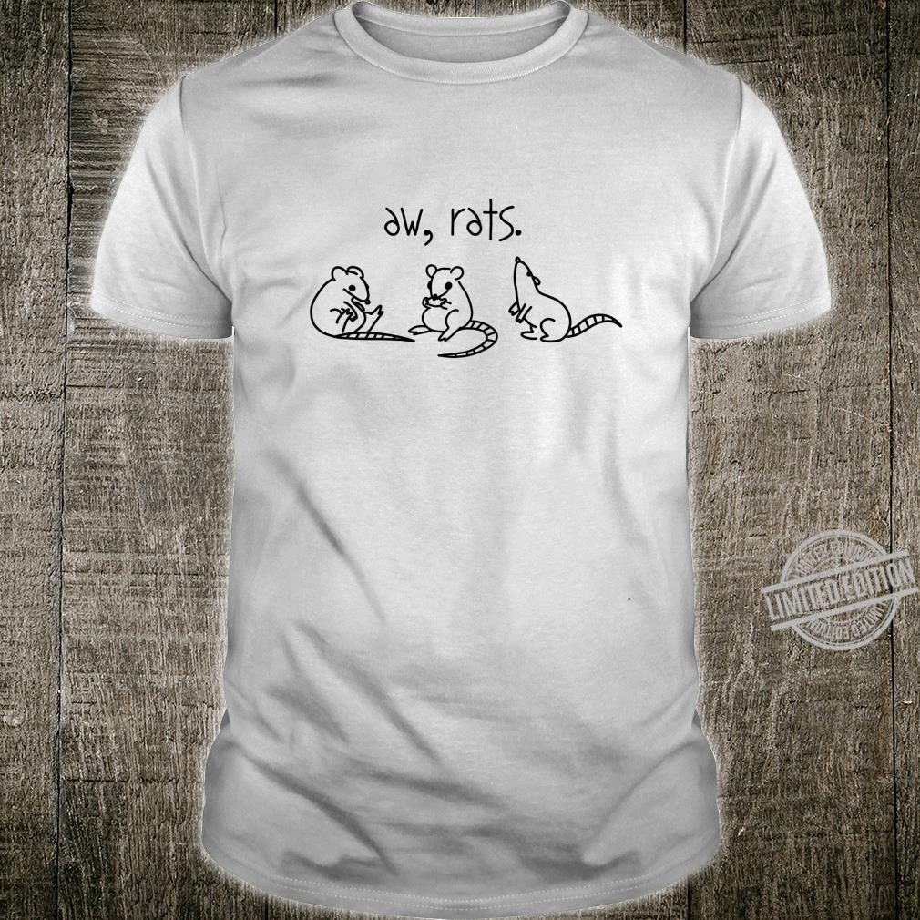 Aw Rats Cute Rat Trio Pet Owner Shirt