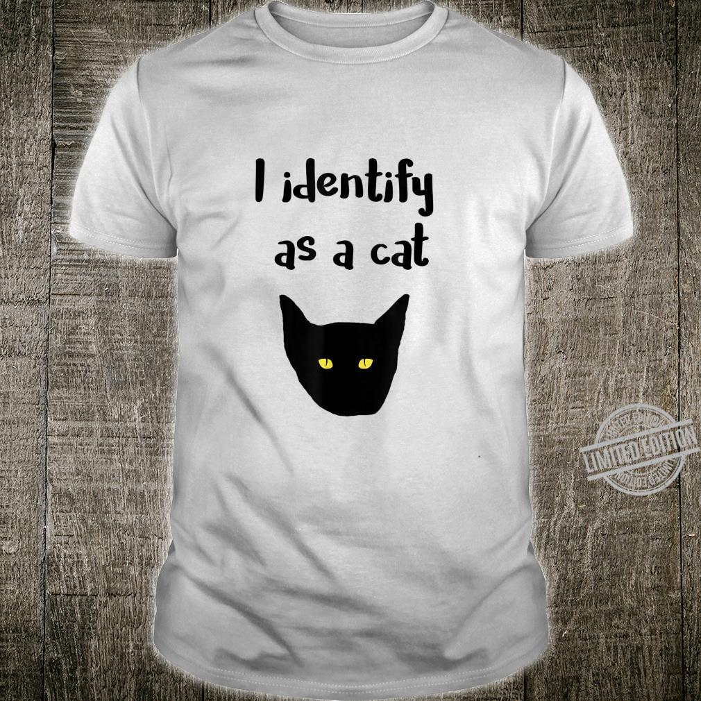 Awesome I identify as a Cat Shirt