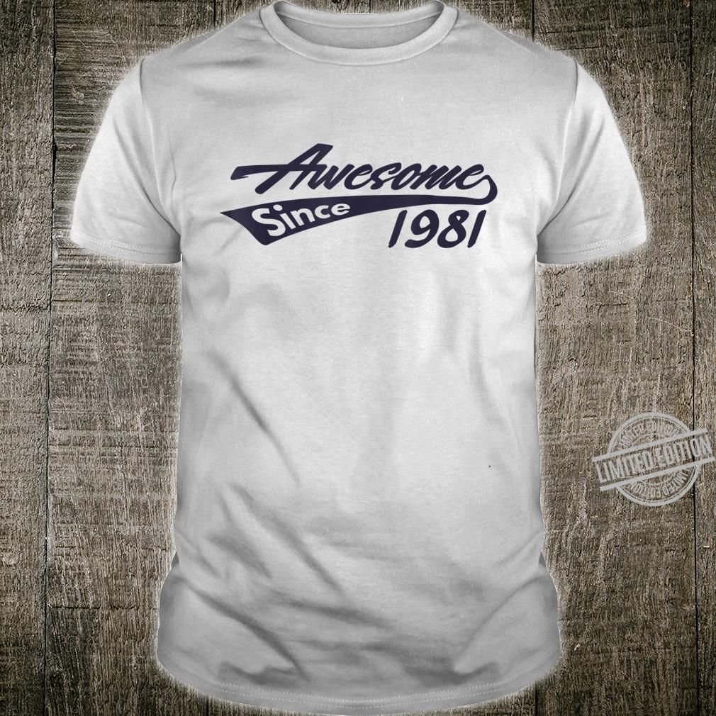Awesome Since 1981 Cool Vintage 39th Birthday Shirt