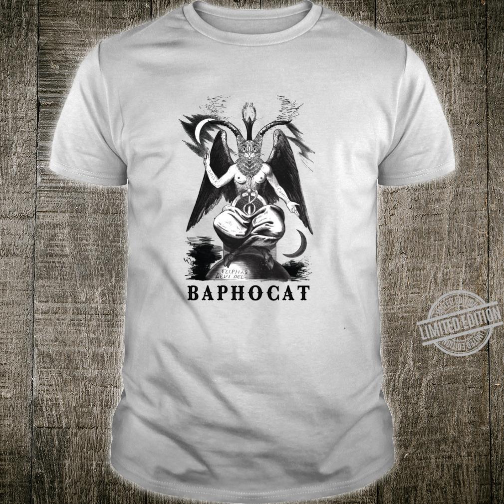 Baphocat Baphomet Cat Gothic Occult Cat Shirt