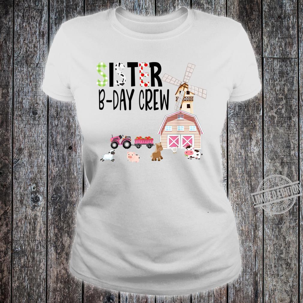 Barnyard Farm Birthday Animals Matching Family Costume Shirt ladies tee