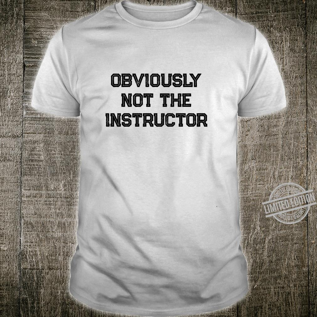 Barre Girl Obviously Not the Instructor Workout Shirt
