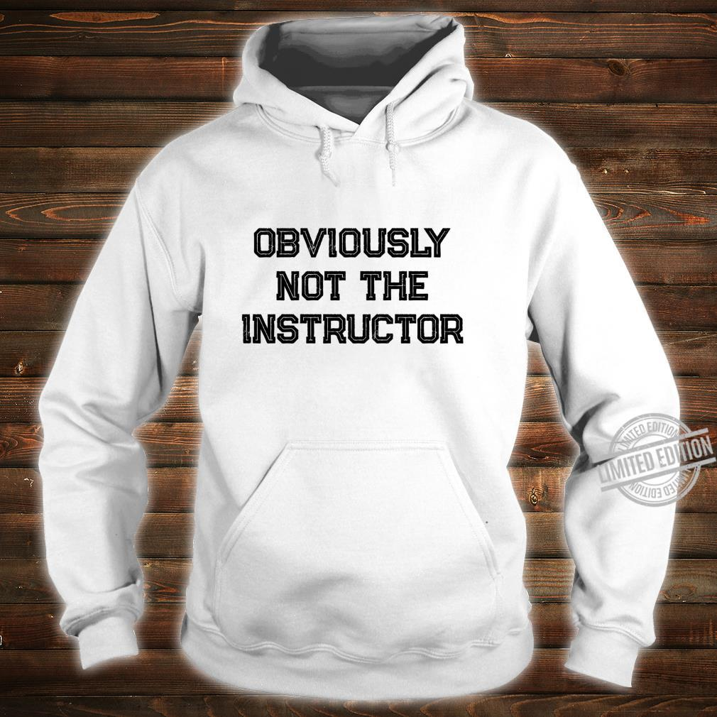 Barre Girl Obviously Not the Instructor Workout Shirt hoodie