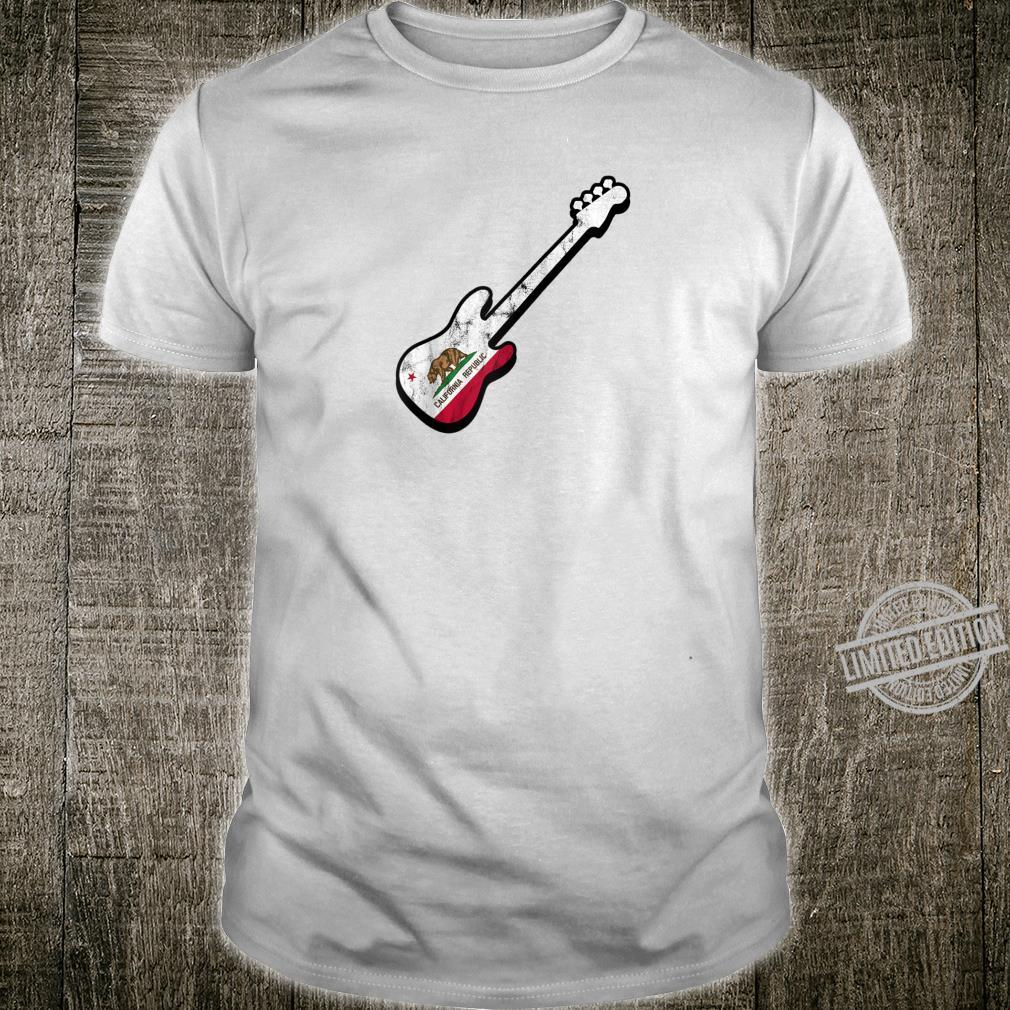 Bassist Californian Flag Bass Guitar California Silhouette Shirt