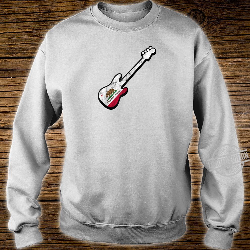 Bassist Californian Flag Bass Guitar California Silhouette Shirt sweater