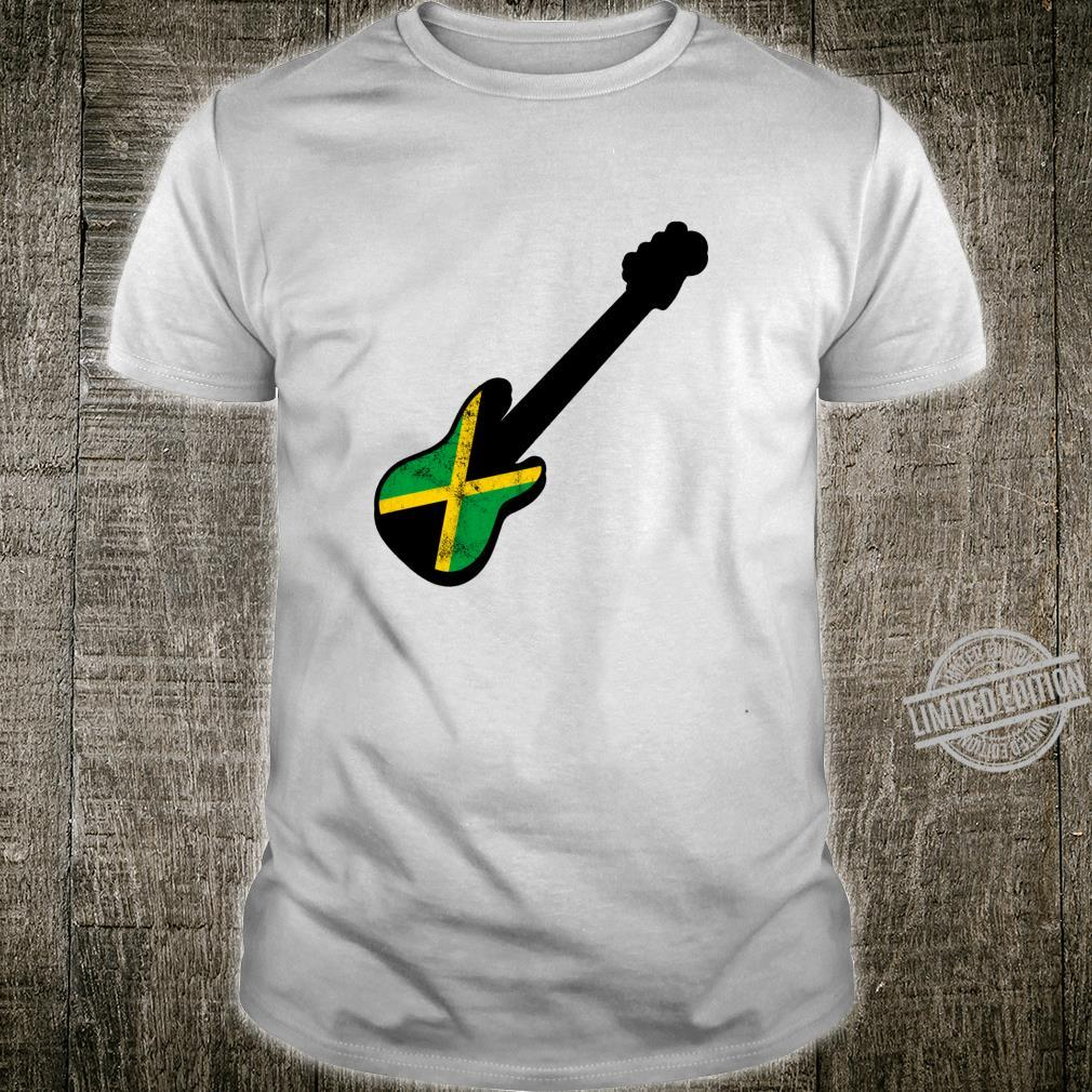 Bassist Jamaican Flag Rasta Reggae Bass Silhouette Shirt
